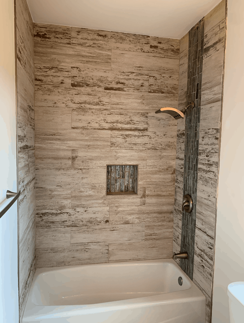 Bathroom Remodel Work Example